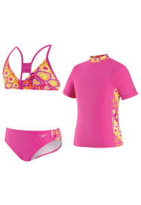 three piece girls swim wear