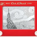 Etch-A-Sketch master Jeff Gagliardi does his etch rendition of Starry Night