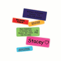 Label pencil cases, water bottles, or even textbooks with Stick On Name Labels from Everything Summer Camp.