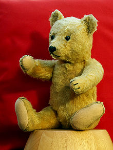 This is one oooold teddy bear from Germany.