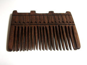Combs are the predecessor to hairbrushes and they've been around much longer.