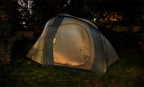 Have all the fun of camping with a fraction of the effort right in your own backyard!