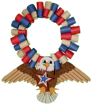 Get crafty with your patriotism today and include the kids with American themed arts and crafts.