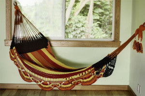 Perfect for reading, there are lots of benefits to having your hammock set up inside as opposed to the traditional outdoor setting.