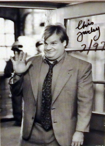 Funnyman Chris Farley had fun at summer camp when he was little.