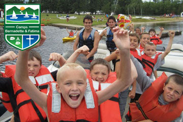 Boys at Camp Fatima are excited to be there! Why not join the fun?!!