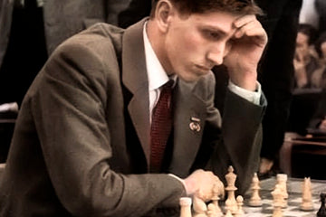 The rarely defeated Bobby Fischer, Chess legend!