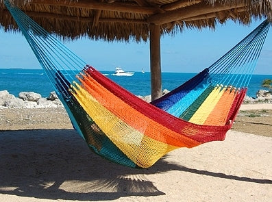The Mayans must have been living the good life, with hammocks set up looking out on the Caribbean Sea!
