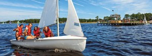 Practice your boating skills at Camp Sea Gull and Seafarer.