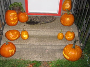 Tis the season to deck your porch out in pumpkins!