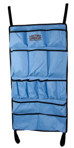 Easy to attach and a plethora of pockets, get the Bunk Organizer.