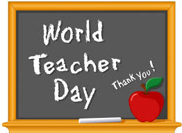Show your appreciation for your teacher today on World Teachers' Day