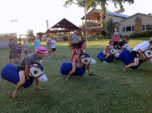 Campers have lots of fun with crazy activities at Camp Champions where they learn to be champions.
