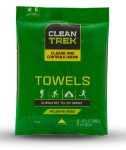 Clean Trek Towels keep you smelling fresh when you need it the most---no water needed!