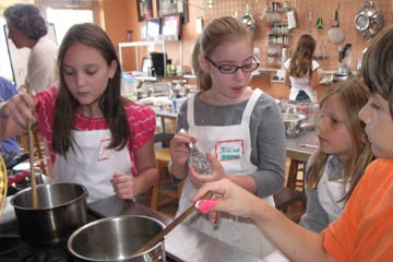 Enjoy honing your cooking skills at camp.