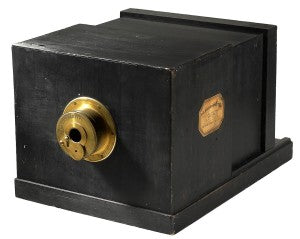 Just a wooden box with a hole in it, these were the original cameras.