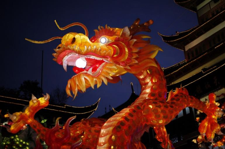 The celebration of the dancing dragon is one of the highlihgts of Chinese New Year