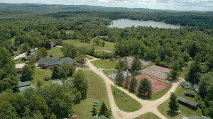 the beautiful campgrounds of Camp Emerson