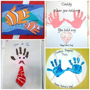 Fingerpaint is a fun way to say Happy Father's Day.