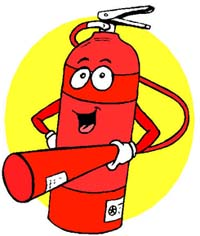 fire extinguishers are an important item to have around the house. Make sure you know where yours is.