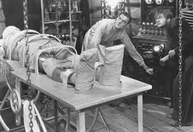 The story of Dr. Frankenstein's monster coming to life.