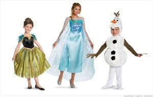Elsa, Anna, and Olaf are this year's top 3 Halloween costumes