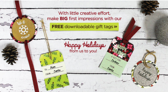 Get your free, downloadable set of gift tags for your present wrapping this year.