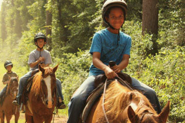 At the right camp, you'll have the opportunity to ride on, cowboys and cowgirls!
