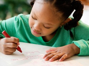 It's great practice for kids to write letters to family and friends.