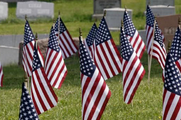 Visit a cemetery for your memorial day observation.