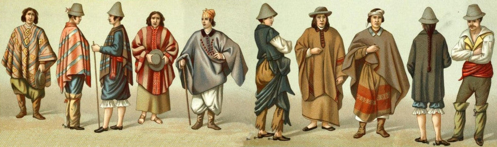 By the 1800s everyone was wearing a poncho!