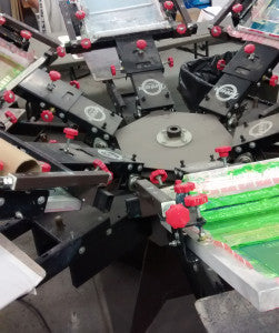 the screen printing carousel for