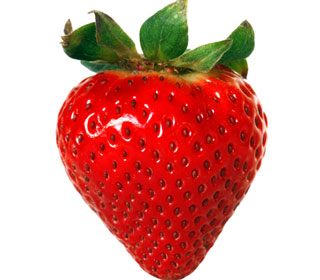 The beautiful strawberry as nature created
