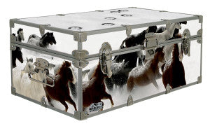 Wild horses couldn't keep you away from this camp trunk.