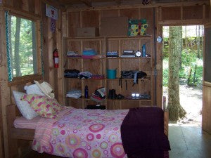 Cozy cabins at Camp Woodmont.