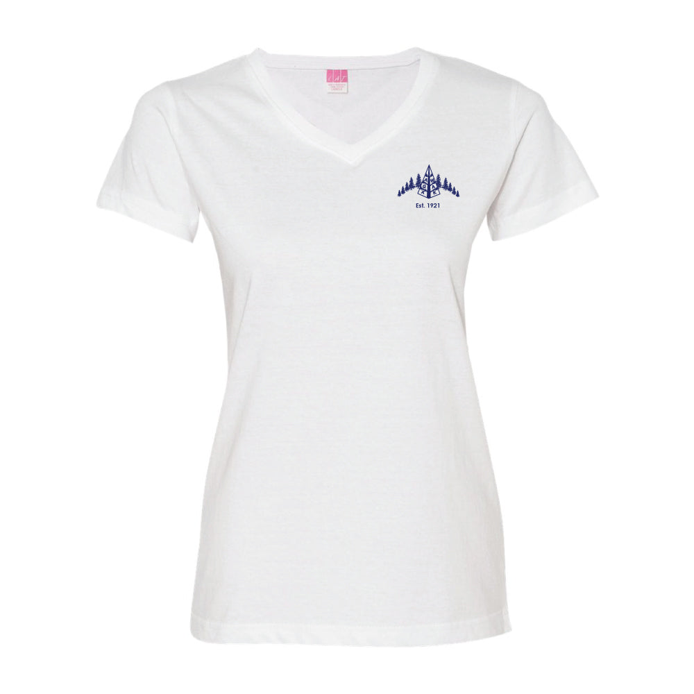 REQUIRED: Camp Agawak Girls Cotton V-Neck Tee