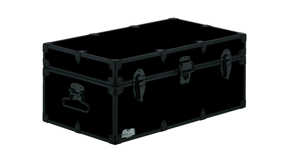 Happy Camper Trunk-Black Trim 32x18x13.5""