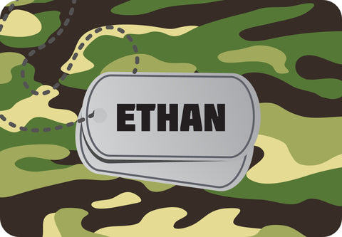 ESC Personalized Floor Mat - Name in Center - Small