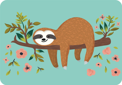ESC Camp Floor Mat - Floral Sloth