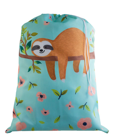 Designer Laundry Bag - Floral Sloth