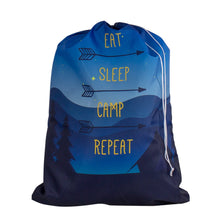 Designer Laundry Bag - Eat Sleep Camp Repeat