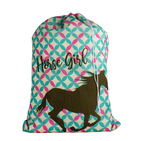 Designer Laundry Bag - Horse Girl