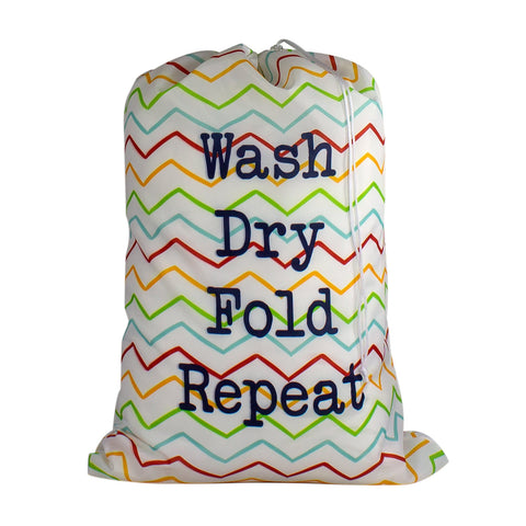 Designer Laundry Bag - Wash Dry Fold Repeat