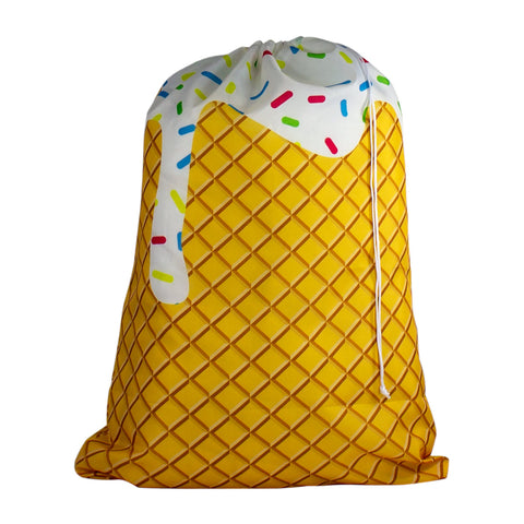 Designer Laundry Bag - Ice Cream Cone