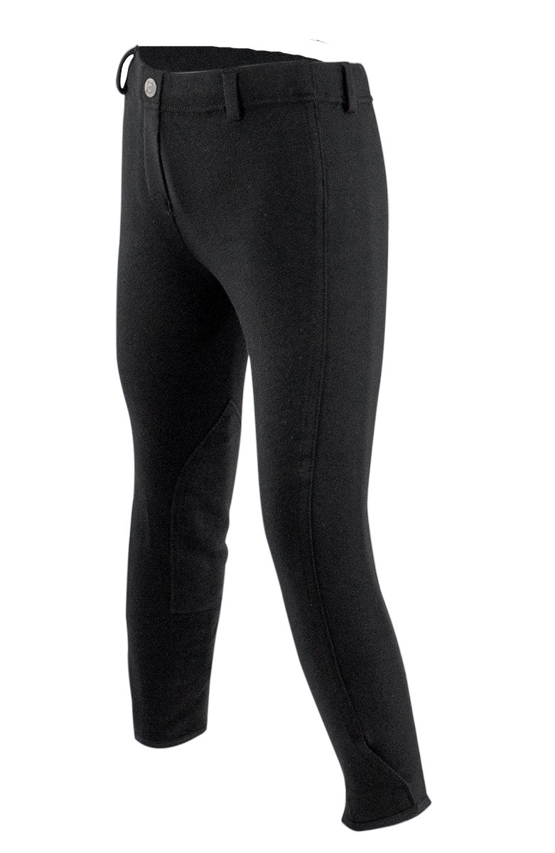 Equistar Childs Pull On Cotton Knee Patch Riding Breeches