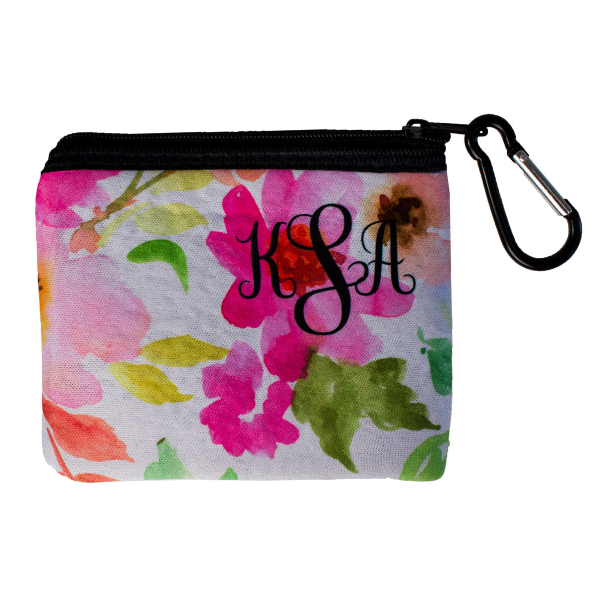 Monogrammed Face Mask Storage Pouch
