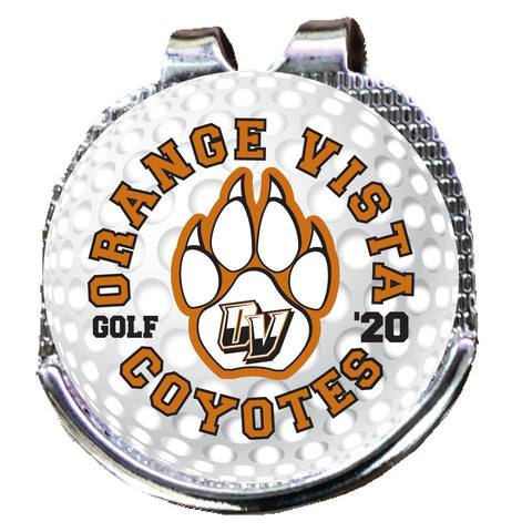 Orange Vista Hat Clip Ball Marker