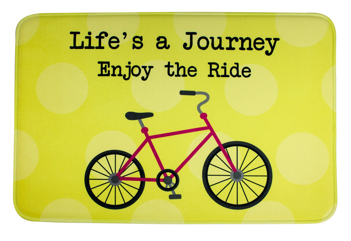 ESC Camp Floor Mat - Life's A Journey - Bike