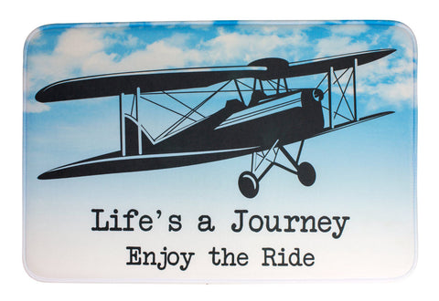 ESC Camp Floor Mat - Life's A Journey - Airplane