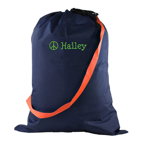Personalized Mint Laundry Bag